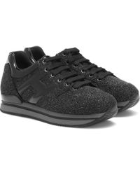 Hogan - Glitter Leather Sneakers - Lyst