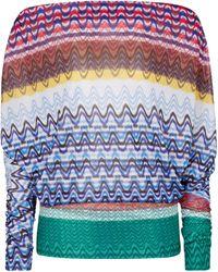Missoni Zig-zag Knit Off-shoulder Top - Multicolour