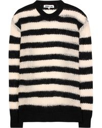 McQ - Pull à rayures en laine,mohair et cachemire mélangés - Lyst