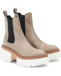 Stella McCartney Chelsea Boots Emilie aus Lederimitat - Natur