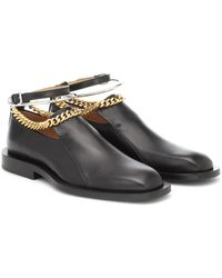 Jil Sander Embellished Leather Loafers - Black