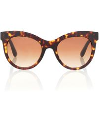 Dolce & Gabbana Cat-eye Sunglasses - Brown