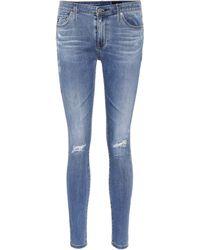 AG Jeans Jeans skinny The Legging Ankle en color azul