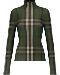 Burberry Top Vintage Check à carreaux - Vert