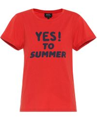 A.P.C. | Yes To Summer Cotton T-shirt | Lyst