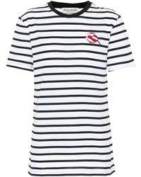 Être Cécile T-shirt en coton rayé - Blanc
