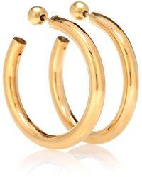 Sophie Buhai Medium Everyday Hoops 18kt Gold Vermeil Earrings - Metallic