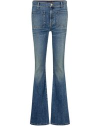 Veronica Beard Florence High-rise Flared Jeans - Blue
