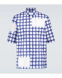 Dries Van Noten Chemise à manches courtes en coton - Bleu