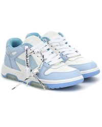 Off-White c/o Virgil Abloh Ooo Out Of Office Leather Trainers - Blue