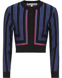 Carolina Herrera - Striped Wool-blend Cardigan - Lyst