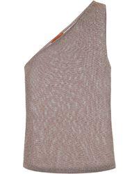Missoni One-Shoulder-Top aus Strick - Mettallic