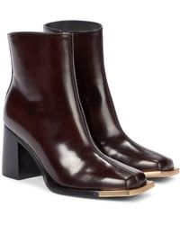 Peter Do Leather Ankle Boots - Brown