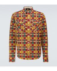 RRL Kariertes Hemd Matlock aus Baumwolle - Mehrfarbig