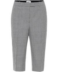 Givenchy Houndstooth Wool Bermuda Shorts - Black