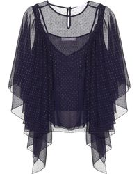 See By Chloé - Dotted Chiffon Skirt - Lyst