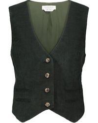 Gabriela Hearst Kratos Velvet Vest - Green