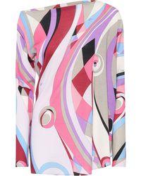 Emilio Pucci Top en mezcla de lana asimétrico - Multicolor