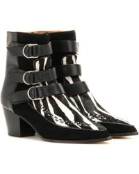 Isabel Marant - Rowi Calf-Hair Ankle Boots - Lyst