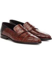 Loewe Slip-on Leather Loafers - Brown