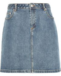 A.P.C. - Denim Skirt - Lyst