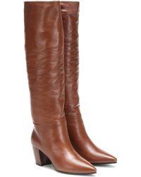 Prada - Leather Knee-high Boots - Lyst