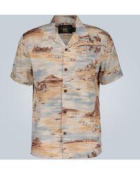 RRL Western-print Short-sleeved Shirt - Brown