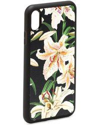 Dolce & Gabbana Custodia per iPhone XS Max a stampa floreale - Multicolore