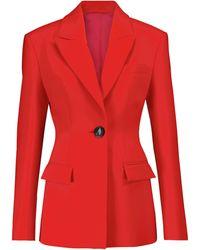 The Attico Blazer Blue Clessidra - Rojo