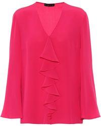 Etro Silk-crêpe Blouse - Pink
