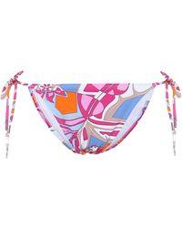 Emilio Pucci Printed Bikini Bottoms - Multicolor