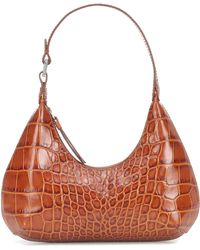 BY FAR Baby Amber Leather Shoulder Bag - Brown