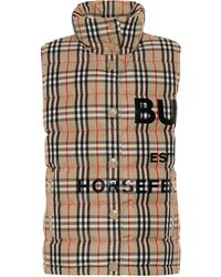 Burberry Horseferry Print Vintage Check Puffer Gilet - Multicolour