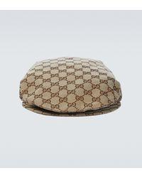 Gucci Gorra plana GG en drill de algodón - Marrón