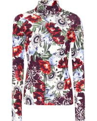 Erdem - Kelly Floral-printed Turtleneck Top - Lyst