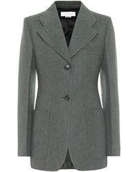 Victoria Beckham Blazer aus Wolle - Grün