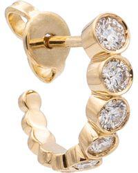 Sophie Bille Brahe Einzelner Ohrring Petite Boucle Ensemble aus 18kt Gold mit Diamanten - Mettallic