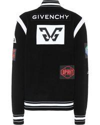 Givenchy Knit Wool Varsity Jacket - Black