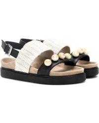 Inuikii - Raffia Pearl Leather Sandals - Lyst