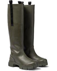 Ganni Knee-high Rubber Boots - Green