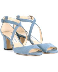 Jimmy Choo - Carrie 65 Suede Sandals - Lyst