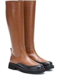 Tod's Leather Knee-high Boots - Brown
