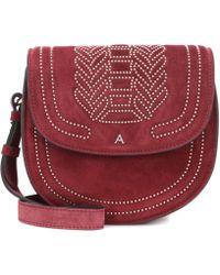 Altuzarra - Ghianda Saddle Suede Shoulder Bag - Lyst