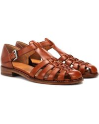 Church's Kelsey T-bar Leather Sandals - Brown