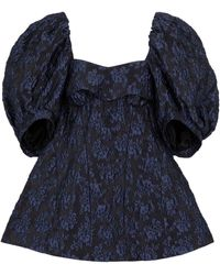 Simone Rocha - Top in jacquard floreale - Lyst