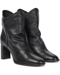Max Mara Bly Leather Ankle Boots - Black