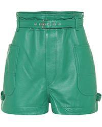 Isabel Marant Short Xike en cuir - Vert