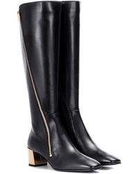 Roger Vivier - Polly Zip Leather Boots - Lyst