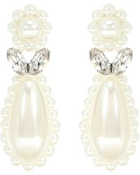 Simone Rocha Faux-pearl Earrings - White