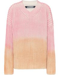 Jacquemus Pullover Soleil a coste in cotone - Rosa